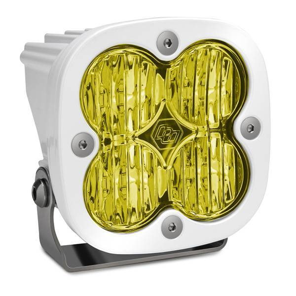 Baja Designs - Baja Designs LED Light Pod White Amber Lens Wide Cornering Pattern Squadron Pro Baja Designs 490015WT