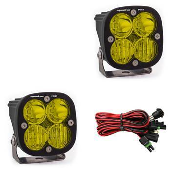 Baja Designs - Baja Designs LED Light Pods Amber Lens Driving Combo Pattern Pair Squadron Pro Series Baja Designs 497813