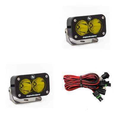 Baja Designs - Baja Designs LED Light Pods Amber Lens Spot Pattern Pair S2 Pro Series Baja Designs 487811