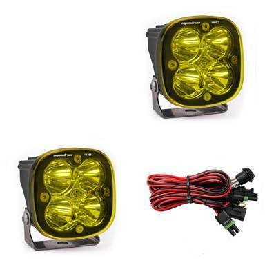 Baja Designs - Baja Designs LED Light Pods Amber Lens Spot Pattern Pair Squadron Pro Series Baja Designs 497811