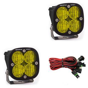 Baja Designs - Baja Designs LED Light Pods Amber Lens Wide Cornering Pair Squadron Sport Baja Designs 557815