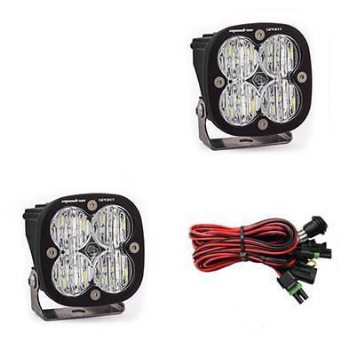 Baja Designs - Baja Designs LED Light Pods Clear Lens Wide Cornering Pair Squadron Sport Baja Designs 557805
