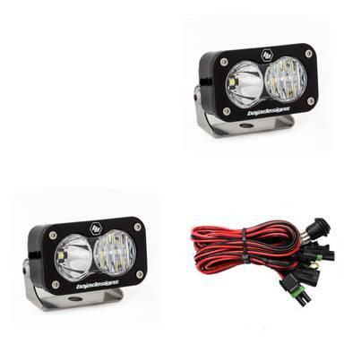 Baja Designs - Baja Designs LED Light Pods Driving Combo Pattern Pair S2 Pro Series Baja Designs 487803