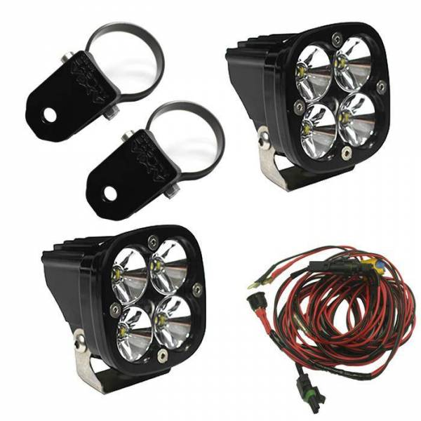 Baja Designs - Baja Designs LED Light Pods Kit W/A Pillar Mounts 2.00 Inch Harness Squadron Pro Baja Designs 497102
