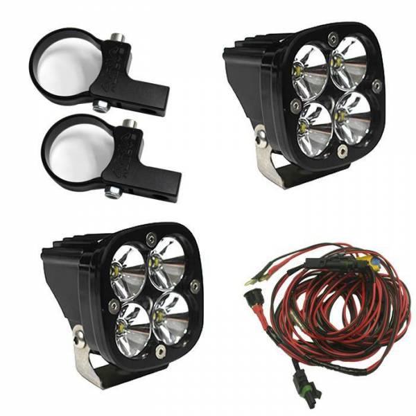 Baja Designs - Baja Designs LED Light Pods Kit W/Horiz Mounts 2.00 Inch Harness Squadron Pro Baja Designs 497105