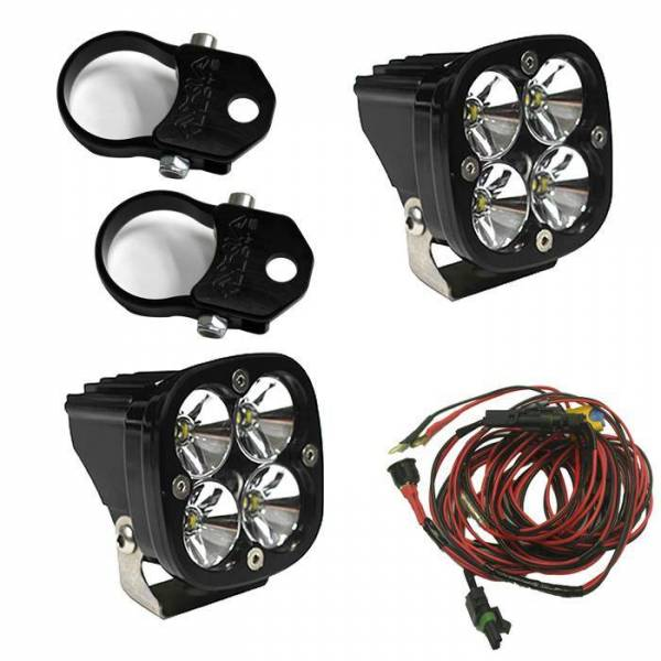 Baja Designs - Baja Designs LED Light Pods Kit W/Vertical Mounts 2.00 Inch Harness Squadron Pro Baja Designs 497108