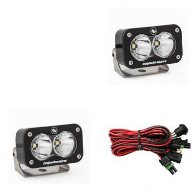 Baja Designs - Baja Designs LED Light Pods Spot Pattern Pair S2 Pro Series Baja Designs 487801