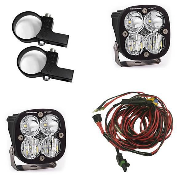 Baja Designs - Baja Designs Polaris LED Light Pods 1.75 Inch Harness Horizontal Mounts Kit Squadron Sport Baja Designs 557104