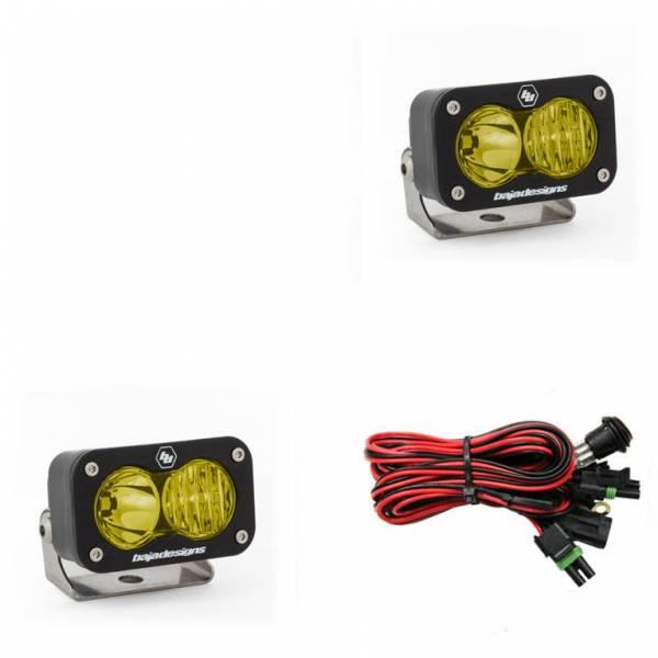 Baja Designs - Baja Designs LED Work Light Amber Lens Driving Combo Pattern Pair S2 Sport Baja Designs 547813