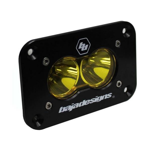 Baja Designs - Baja Designs LED Work Light Amber Lens Spot Pattern Flush Mount Each S2 Sport Baja Designs 541011