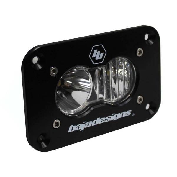 Baja Designs - Baja Designs LED Work Light Clear Lens Driving Combo Pattern Flush Mount Each S2 Sport Baja Designs 541003