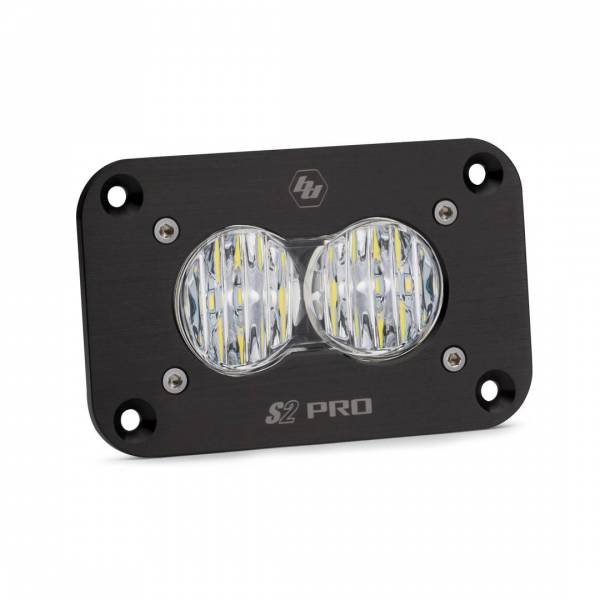 Baja Designs - Baja Designs LED Work Light Clear Lens Wide Cornering Pattern Flush Mount Each S2 Sport Baja Designs 541005