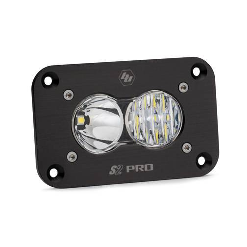 Baja Designs - Baja Designs LED Work Light Flush Mount Clear Lens Driving Combo Pattern S2 Pro Baja Designs 481003