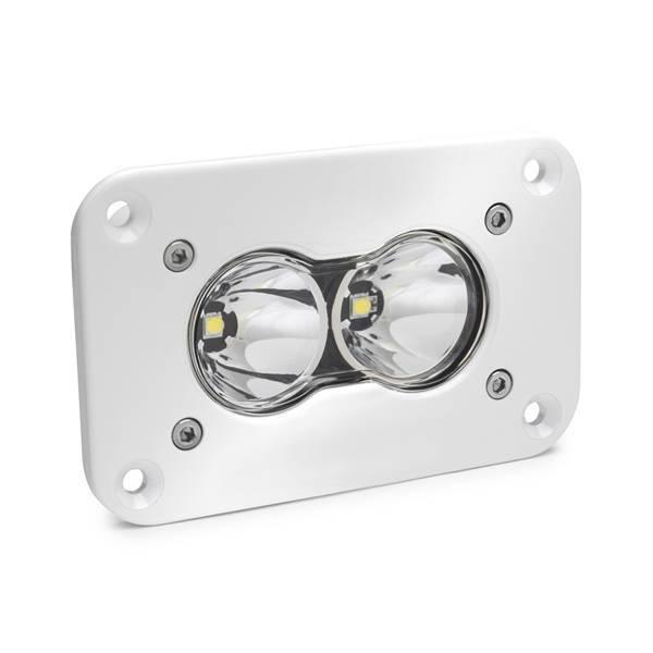 Baja Designs - Baja Designs LED Work Light Flush Mount Clear Lens Work/Scene Pattern White S2 Pro Baja Designs 481006WT