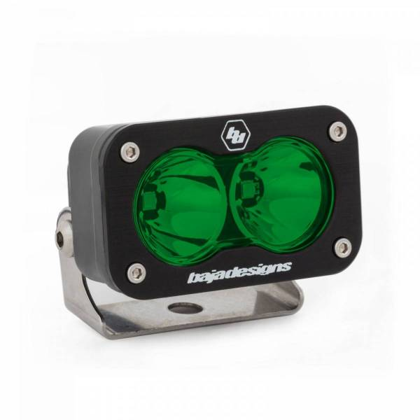 Baja Designs - Baja Designs LED Work Light Green Lens Spot Pattern S2 Sport Baja Designs 540001GR