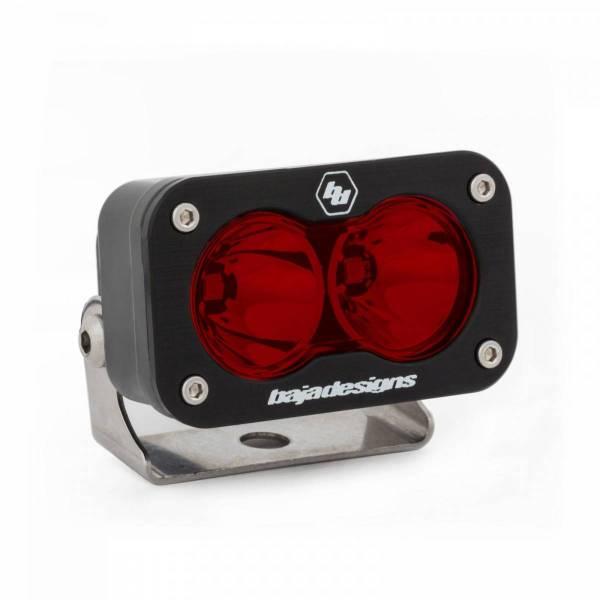 Baja Designs - Baja Designs LED Work Light Red Lens Spot Pattern S2 Sport Baja Designs 540001RD