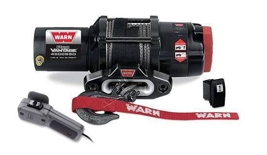 Warn - Warn 12 Volt DC 4500 LB Cap 50 Ft Synthetic Rope 98600