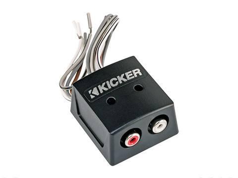Kicker - kicker KISLOC Speaker wire-to-RCA Converter with LOC, 2ch.
