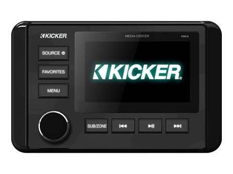 Kicker - kicker KMC4 Marine Dual-Zone Media Center