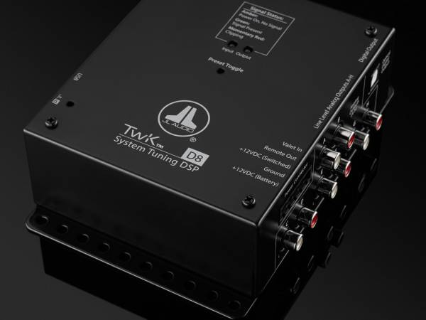 JL Audio - JL Audio TwK-D8 System Tuning DSP controlled by TüN software, Digital INPUT ONLY / 8-ch. Analog Outputs