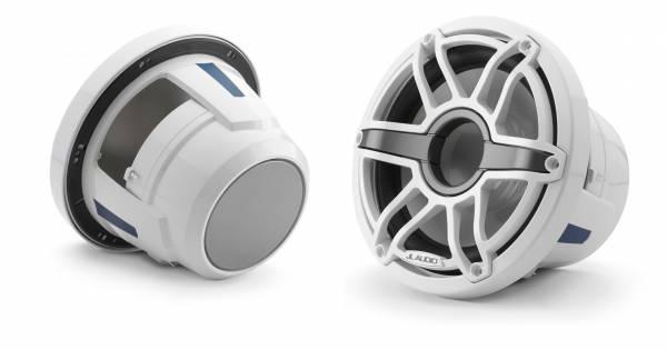 JL Audio - JL Audio M6-8IB-S-GwGw-4 8-inch (200 mm) Marine Subwoofer Driver, Gloss White Trim Ring, Gloss White Sport Grille, 4 ohm