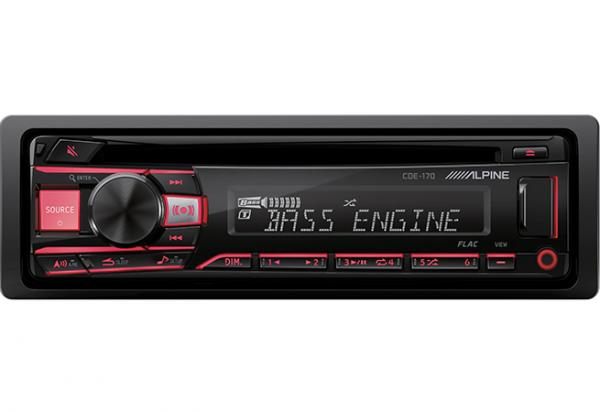 Alpine - ALPINE CDE-170  Advanced MP3/WMA/CD Receiver