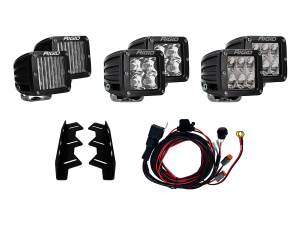 Lighting - Wiring and Mounts - RIGID Industries - RIGID Industries 2017-2018 FORD RAPTOR FOG LIGHT KIT INCLUDES MOUNTS & 6 D-SERIES 41610