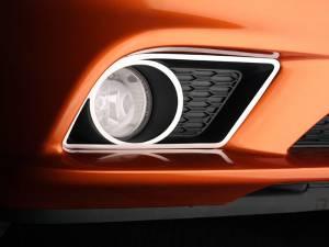 American Car Craft Fog Light Trim Rings Lower Polished 2pc 332002