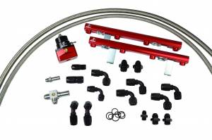 Fuel System - Fuel System Parts - Aeromotive Fuel System - Aeromotive Fuel System 1996 thru 1998 1/2 Ford DOHC 4.6 Liter Fuel Rail Kit (Cobra) 14120