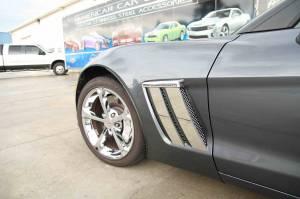 Exterior - Fenders & Flares - American Car Craft - American Car Craft Fender Trim Plates Polished 042084