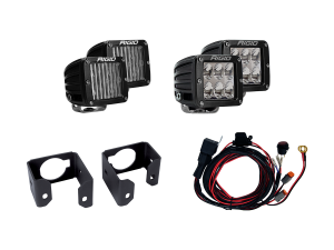 Lighting - Wiring and Mounts - RIGID Industries - RIGID Industries 2017-2018 FORD SUPER DUTY DUAL FOG LIGHT KIT INCLUDES MOUNTS & 4 D-SERIES 41616
