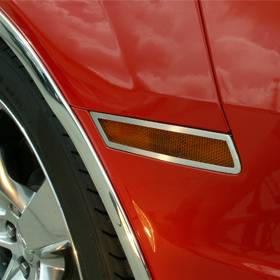 Lighting - Cab & Marker Lights - American Car Craft - American Car Craft Side Marker Trim Satin 4pc 102022