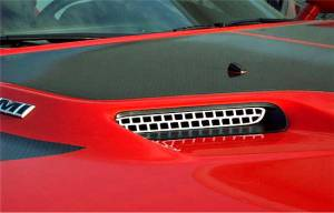 American Car Craft Hood Scoop Grilles Overlay Style 2pc 152013