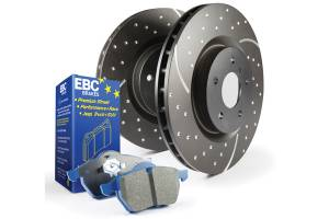 EBC Brakes - EBC Brakes GD sport rotors, wide slots for cooling to reduce temps preventing brake fade. S6KF1064