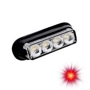 Oracle Lighting - Oracle Lighting ORACLE 4 LED Undercover Strobe Light - Red 3402-003