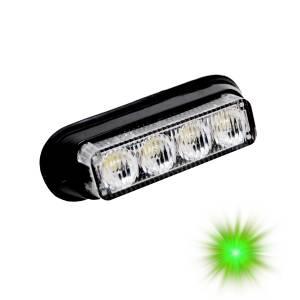 Oracle Lighting - Oracle Lighting ORACLE 4 LED Undercover Strobe Light - Green 3402-004