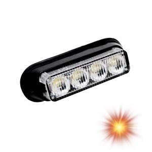 Oracle Lighting - Oracle Lighting ORACLE 4 LED Undercover Strobe Light - Amber 3402-005