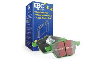 EBC Brakes - EBC Brakes Greenstuff 2000 series is a high friction pad designed to improve stopping power DP22257