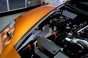 Exterior - Fenders & Flares - American Car Craft - American Car Craft Inner Fender Liner Polished Component 8pc Illum. Yellow LED 043022-YLWL