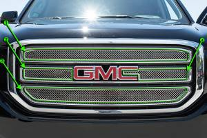 Exterior - Grilles - American Car Craft - American Car Craft Grille Front Laser Mesh 402001