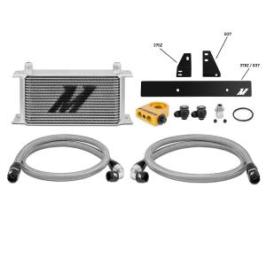 Performance - Oil System & Parts - Mishimoto - FLDS Nissan 370Z/ Infiniti G37 (Coupe only) Thermostatic Oil Cooler Kit MMOC-370Z-09T