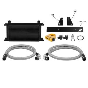 Performance - Oil System & Parts - Mishimoto - FLDS Nissan 370Z/ Infiniti G37 (Coupe only) Thermostatic Oil Cooler Kit, Black MMOC-370Z-09TBK