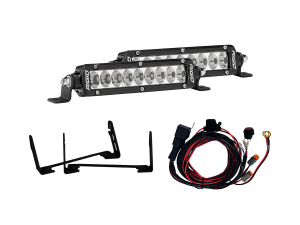 "Lighting - Wiring and Mounts - RIGID Industries - RIGID Industries 2017-2018 FORD RAPTOR STEALTH GRILLE KIT INCLUDES MOUNTS & 2 6"" SR-SERIES 41612"