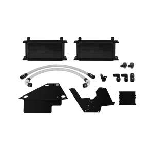 Performance - Oil System & Parts - Mishimoto - FLDS Mitsubishi Lancer Evolution X Oil Cooler Kit, Black MMOC-EVO-08BK
