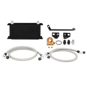 Performance - Oil System & Parts - Mishimoto - FLDS Ford Mustang EcoBoost Thermostatic Oil Cooler Kit MMOC-MUS4-15TBK