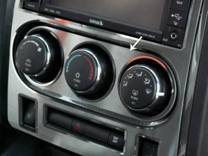 Interior - Misc. Interior Accessories - American Car Craft - American Car Craft A/C Control Trim Plate Satin 151018