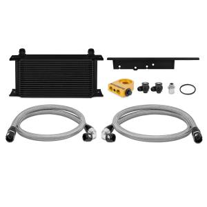 Performance - Oil System & Parts - Mishimoto - FLDS Nissan 350Z / Infiniti G35 Coupe Thermostatic Oil Cooler Kit, Black MMOC-350Z-03TBK