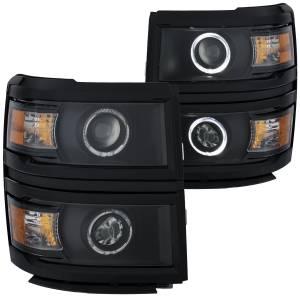 ANZO USA - ANZO USA Projector Headlight Set w/Halo 111344