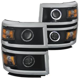 ANZO USA - ANZO USA Projector Headlight Set w/Halo 111345