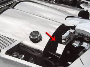 Engine Cooling - Cooling Parts - American Car Craft - American Car Craft Belt Tension Cover Stand Alone *Requires modification of factory vacuum lines* 043108